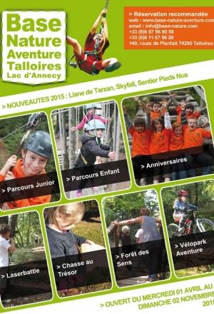 Du nouveau à la Base Nature Aventure de Talloires dès le 1er avril !